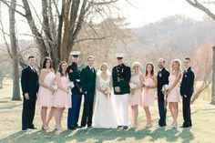 Romantic pastel military wedding: http://www.stylemepretty.com/2014/08/14/romantic-pastel-military-wedding/ | Photography: http://www.loveandbemarried.com/