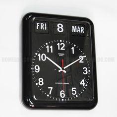 TWEMCO Calendar Wall Clock BQ-12A Black