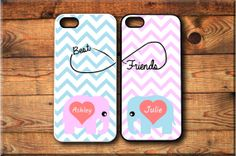 Items similar to 2 iPhone iPhone iPhone 4 Samsung Galaxy case Cute Elephants Best friends Forever BFF Infinity Protective Case Christmas on Etsy Bff Iphone Cases, Bff Cases, Ipod Cases, Cute Phone Cases, Iphone 4s, Best Friend Cases, Friends Phone Case, Beat Friends, Cute Elephant