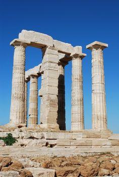 Temple of Poseidon in Cape Sounion, Athens