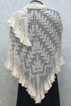 Fiddlesticks Knitting--Dorothy Siemens--Flirty Ruffles Shawl