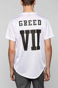 Greed 7 Mesh Curved Hem Tee - Urban Outfitters