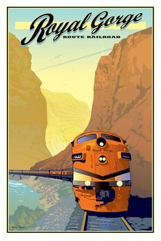 Items similar to Royal Gorge Railroad Vintage style Poster on Etsy Old Poster, Retro Poster, Poster Ads, Advertising Poster, Pub Vintage, Photo Vintage, Vintage Style, Train Posters, Railway Posters