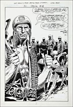 Original art by Joe Kubert for DC Special Blue Ribbon Digest Comic Book Artists, Comic Artist, Comic Books Art, Joe Kubert, Rendering Art, War Comics, Coloring Book Art, Dc Comics Characters, Classic Comics