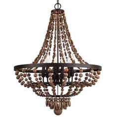 Buy the Park Harbor Bronze Gold Direct. Shop for the Park Harbor Bronze Gold Casa Maya Wide 6 Light Single Tier Empire Style Chandelier with Wood Bead Accents and save. Barn Lighting, Lighting Store, Chandelier Lighting, Chandeliers, Bronze Gold, Rustic Bedroom Furniture, Beaded Chandelier, Rustic Chandelier, Empire Style