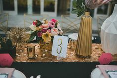 This Shoppable Wedding Is A Desert Dream #refinery29  http://www.refinery29.com/lulu-georgia-wedding-decor#slide3  Flowers by Carissa Jones at JL Designs.