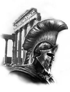 Greek Mythology Tattoos, Greek And Roman Mythology, Greek Gods, Body Art Tattoos, Sleeve Tattoos, Cool Tattoos, Gladiator Tattoo, Spartan Tattoo, Greek Warrior