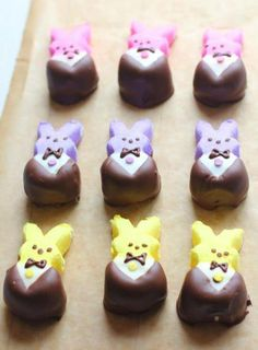 Easter #Peeps Dressed in #Velata <3 Pick up the #chocolate to make this #dippitydo at http://justfondue.velata.us #JustFondue #Easter #VelataRecipeIdea #IChooseVelata #CasieStevenson