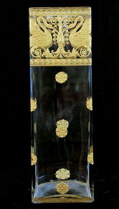 French Empire Gilt Crystal Vase