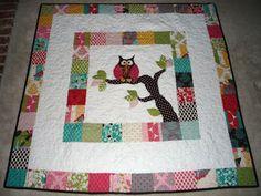 Greener Beginnings: Appliqued owl quilt