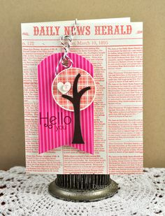 Trendy Tree Tops Card by Dawn McVey for Papertrey Ink (April 2012)