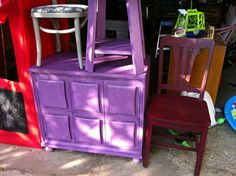 Rehabbed painted furniture