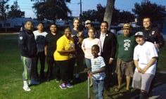 National Night Out with Long Beach Mayor Garcia, Police Chief Luna, and other neighbors, 8-4-15.