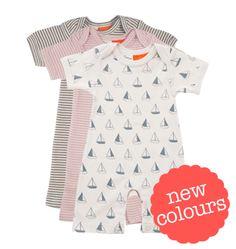 Short Sleeve Pyjama Suit - Cotton - Nature Baby