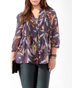 Mixed Feather Top   FOREVER21 PLUS - 2000019414