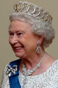 """The Vladimir tiara"" without pearls or emeralds. Queen Elizabeth II"