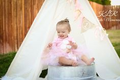 Pink and Gold first birthday photography KLR Photo Memories