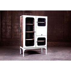 Vintage Metal And Glass Medical Cabinet in White 1900s Industrial Unit Medicine Cabinet, Vintage Way To Have Antique Storage Solutions with vintage Appeal for your kitchen, contract furniture