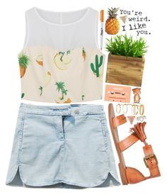 """You're weird. I like you."" by delphinium-decorum ❤ liked on Polyvore featuring fresh, summerstyle, summerfashion and summer2014"