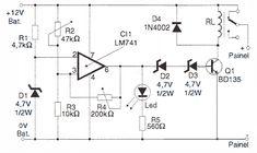 #555 Timer Based Four Way Traffic Light #Circuit Diagram