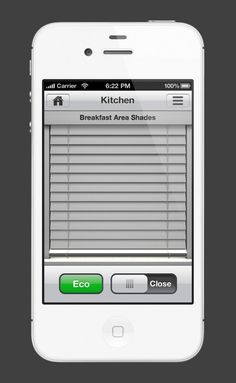 Lutron Controller iPhone app at One-Touch Automation - Control lighting shades and more from the app.