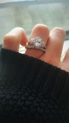 Three stone Oval Halo engagement ring! #EngagementRings #Halo…