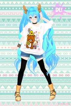 [MMD] Miku Hatsune DL *A* by Netana on DeviantArt