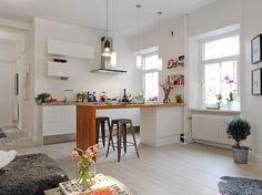 Cocina integrada con el salón
