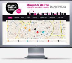 Gruppo Mondadori e Gruppo RCS.  Milano Design Weekend Web site.
