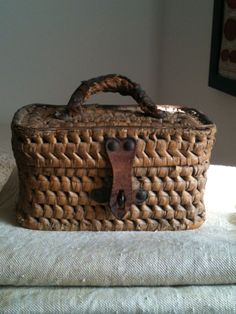 Antique French basket (19th century) -- perfect for casual storage in almost any room