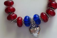 European Pandora style glass bead bracelet. Beautiful $30  Etsy.com.    Shop- RomansHope All proceeds go to autism therapy