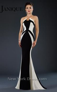 Infuse your special event with sensational style in this graphic evening gown by…