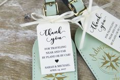 Thank You Tag - Wedding Favor Tag - Luggage Favor Tag - Wedding Favor - Custom Tags - Destination Wedding - MEDIUM Size - 2 5/8 x 1.5 inch