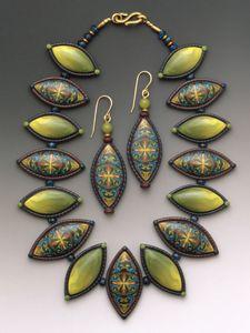 Sarah makes beautiful cane work jewelry!