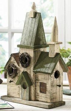 church birdhouses - Google Search