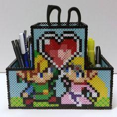 Legend of Zelda pencil holder -- perler beads by ladyofCleganeskeep.deviantart.com on @DeviantArt