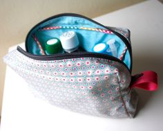 Tutorial como hacer un neceser con bolsillos (patrones gratis)