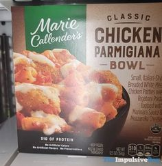 Chicken Parmigiana, Chicken Patties, Italian Bread, Frozen Meals, Rigatoni, Marinara Sauce, Preserves, New Recipes, Protein