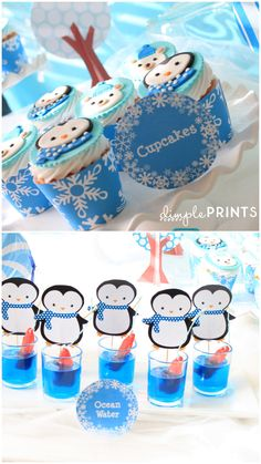 Penguin Party Favors | Penguin & Polar Bear Party Package - Dimple Prints Shop