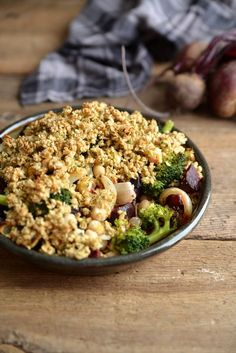 Waffle & Whisk: Beetroot & Broccoli Chickpea Crumble - Bakemas Day 4