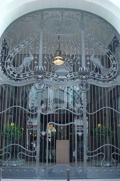 Art Nouveau gate, Four Seasons Hotel Gresham Palace, Budapest