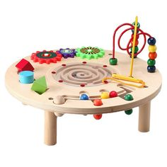 The Circle Play Center is hours of fun that promotes play-based learning, enhancing and challenging fine motor skills, shape and color recognition, eye-hand coordination and creative problem-solving skills!
