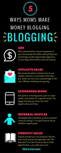 Ready to start making money from home? Start a blog! There are so many different ways to make money blogging, even if you're a beginner. Take a look!