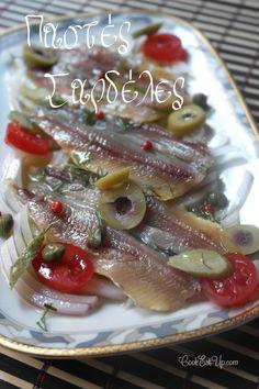 Παστές σαρδέλες cookeatup.com Greek Recipes, Fish Recipes, Seafood Recipes, Greek Cooking, Cooking Time, Greek Meze, The Kitchen Food Network, Homemade Spices, Mediterranean Diet Recipes