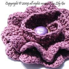 NoSeaming Crocheted Flower Pattern in PDF File by lprajogo on Etsy