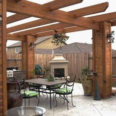 Patio Pergola Design no. Diy Pergola, Building A Pergola, Wood Pergola, Pergola Canopy, Outdoor Pergola, Outdoor Spaces, Outdoor Living, Outdoor Decor, Pergola Ideas