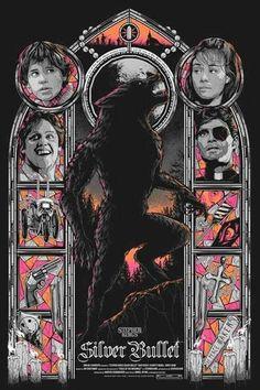 Horror Movie Poster Art : Silver Bullet, 1985 by Matt Ryan Tobin Horror Icons, Horror Movie Posters, Movie Poster Art, Film Posters, Fan Poster, Cult Movies, Scary Movies, Comedy Movies, Arte Horror