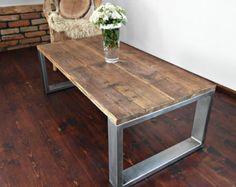 Handmade Rustic Reclaimed Wood & Steel Industrial by DesignInFocus