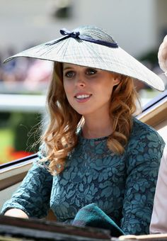 Princess Beatrice, June 17, 2014 in Sarah Cant | Royal Hats.... Royal Ascot Day 1: The British Royal Family....Posted on June 18, 2014 by HatQueen
