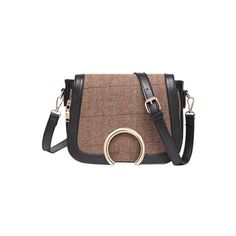 Cover Metallic Tweed Crossbody Bag ($25) ❤ liked on Polyvore featuring bags, handbags, shoulder bags, crossbody purse, metallic crossbody, tweed purse, crossbody handbags and brown handbags
